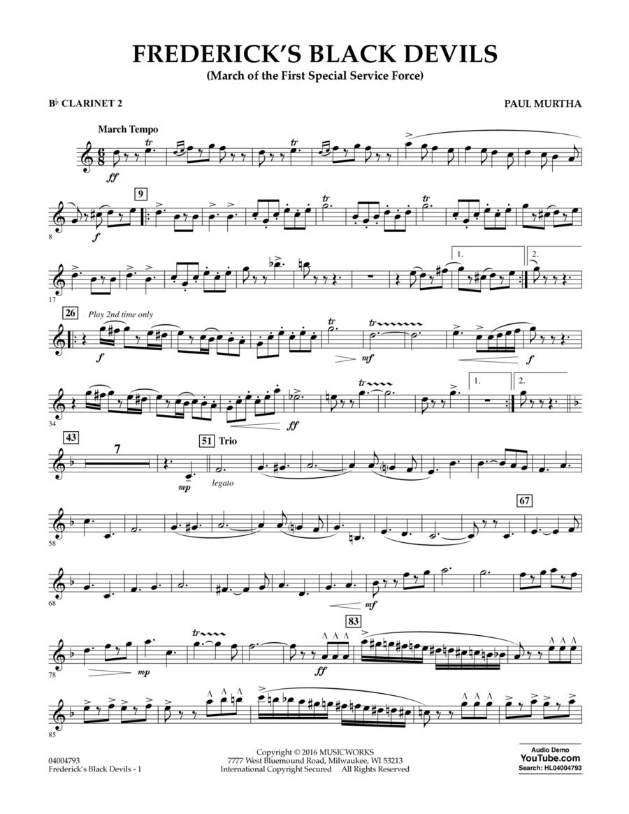 Frederick's Black Devils - Bb Clarinet 2