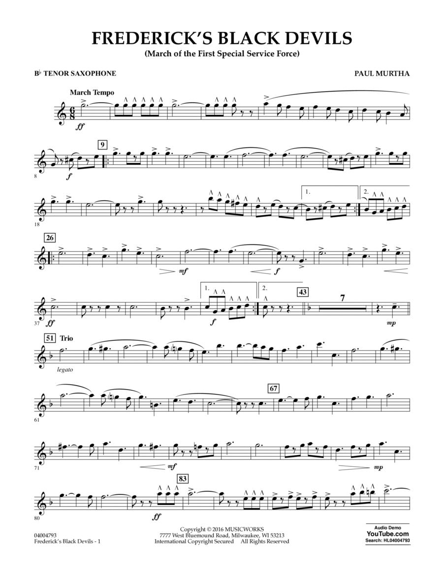 Frederick's Black Devils - Bb Tenor Saxophone