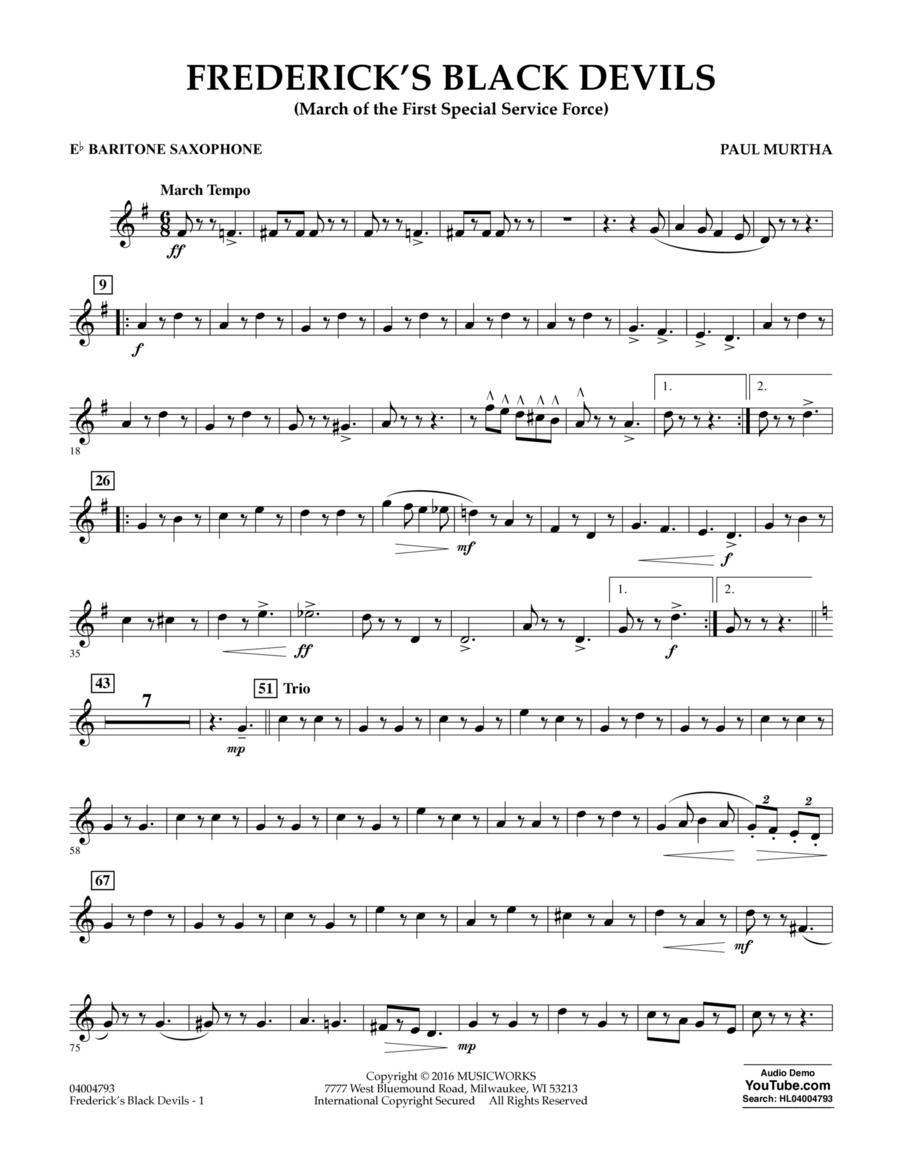 Frederick's Black Devils - Eb Baritone Saxophone
