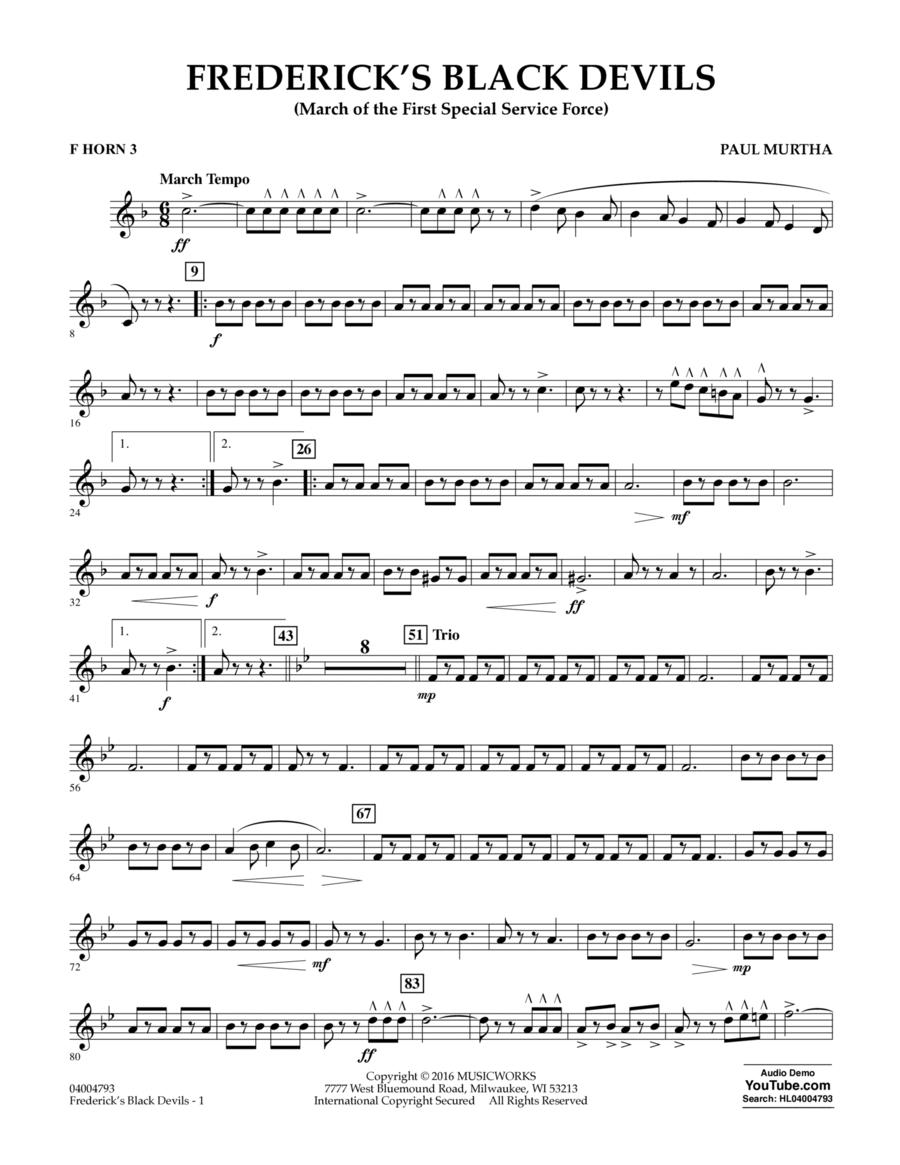 Frederick's Black Devils - F Horn 3