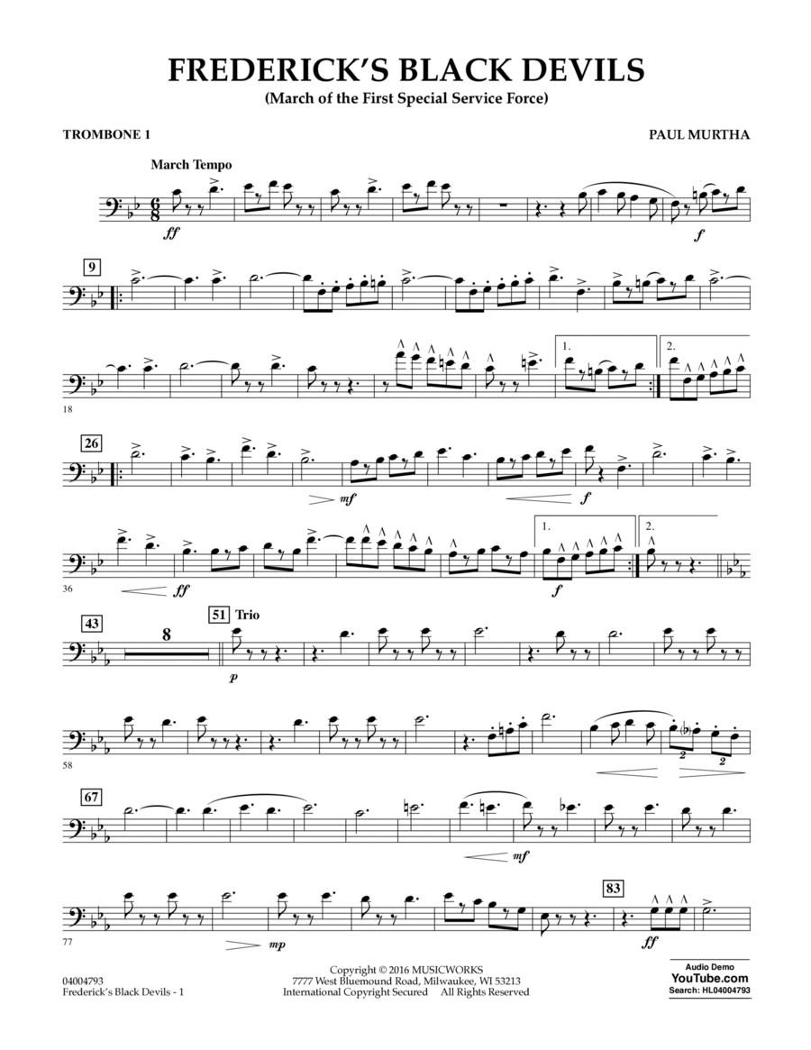 Frederick's Black Devils - Trombone 1