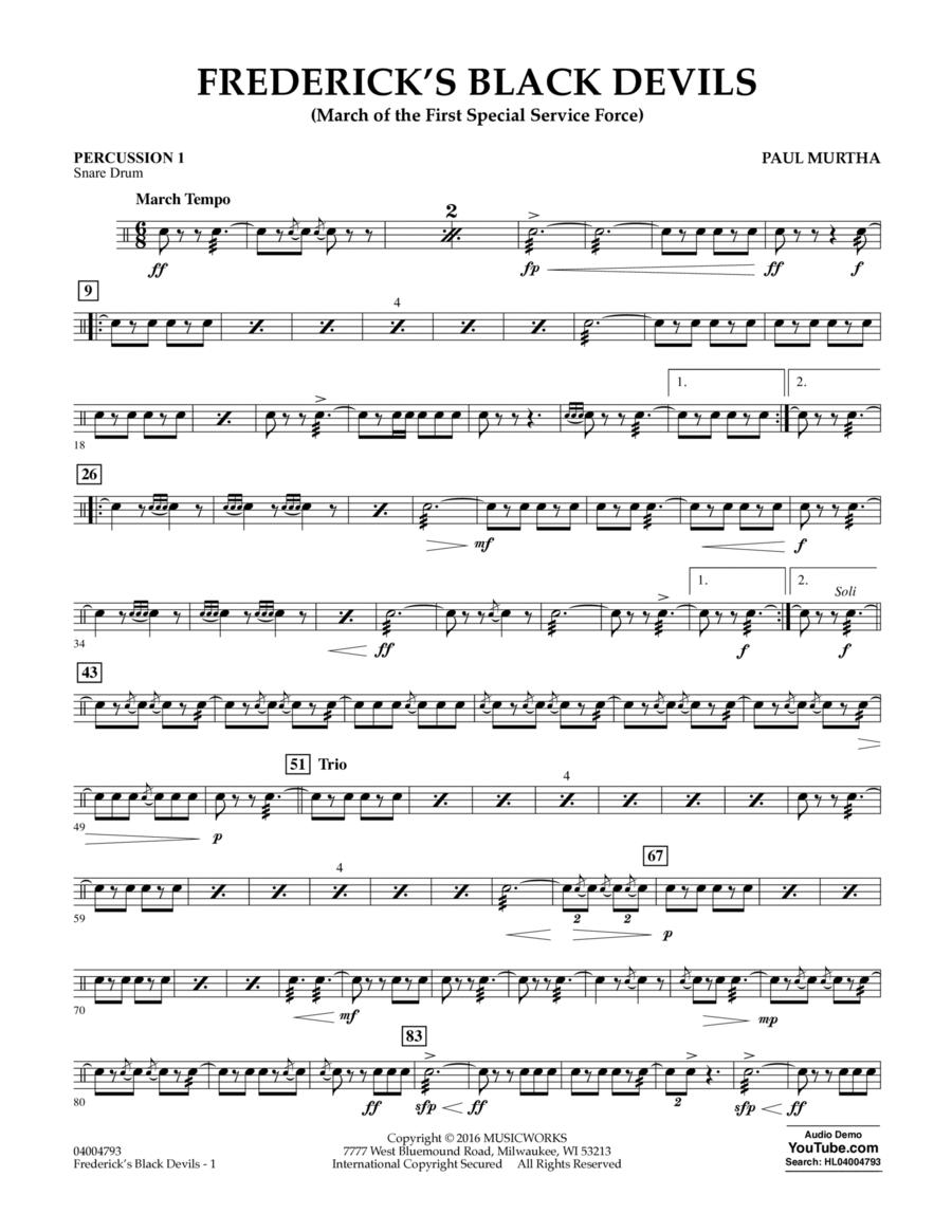Frederick's Black Devils - Percussion 1