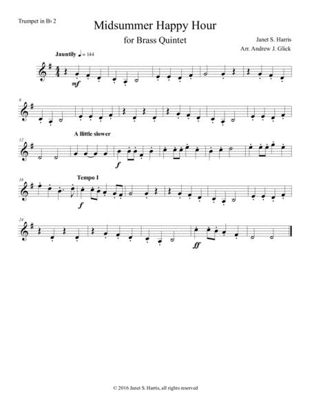 Midsummer Happy Hour (second trumpet in Bb)