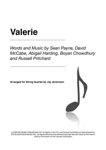Valerie for String Quartet