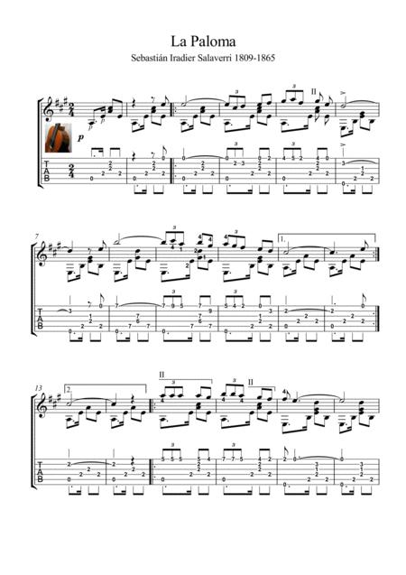 La Paloma guitar solo