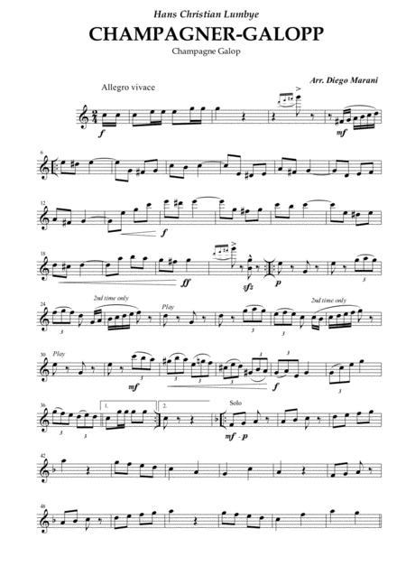 Champagne Galop for String Quartet