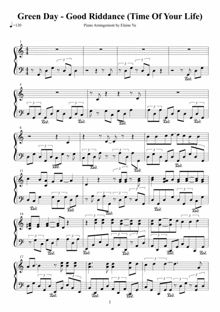 good riddance sheet music pdf