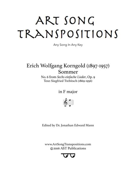 Sommer, Op. 9 no. 6 (F major)
