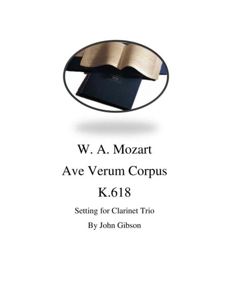 Mozart - Ave Verum Corpus for Clarinet Trio