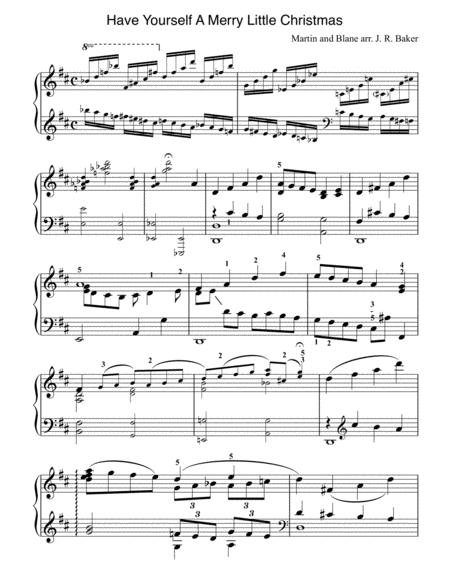 Have Yourself A Merry Little Christmas (Stylized Piano Solo)