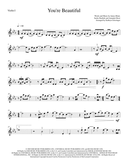 You're Beautiful - String Quartet