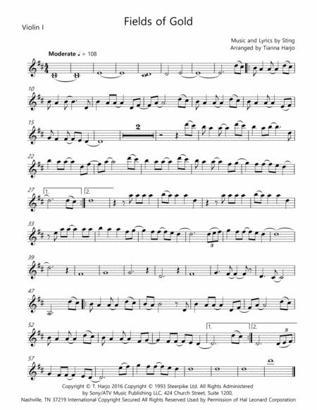 Fields Of Gold - String Quartet