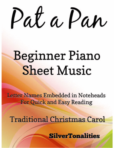 Pat a Pan Beginner Piano Sheet Music