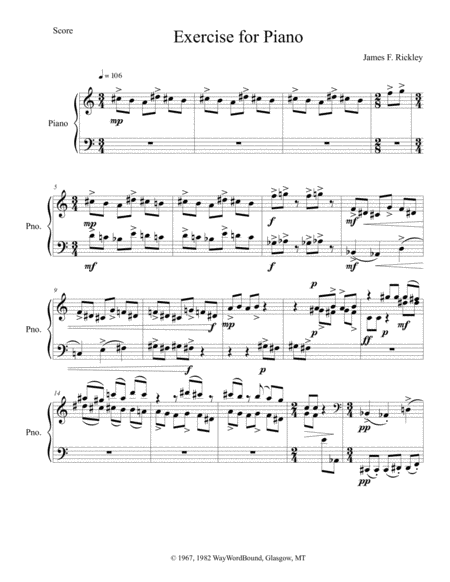 Exercise for Piano