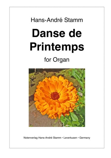 Danse de Printemps for organ