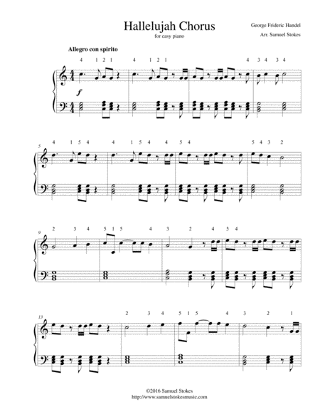 Hallelujah Chorus from Handel's Messiah - for easy piano