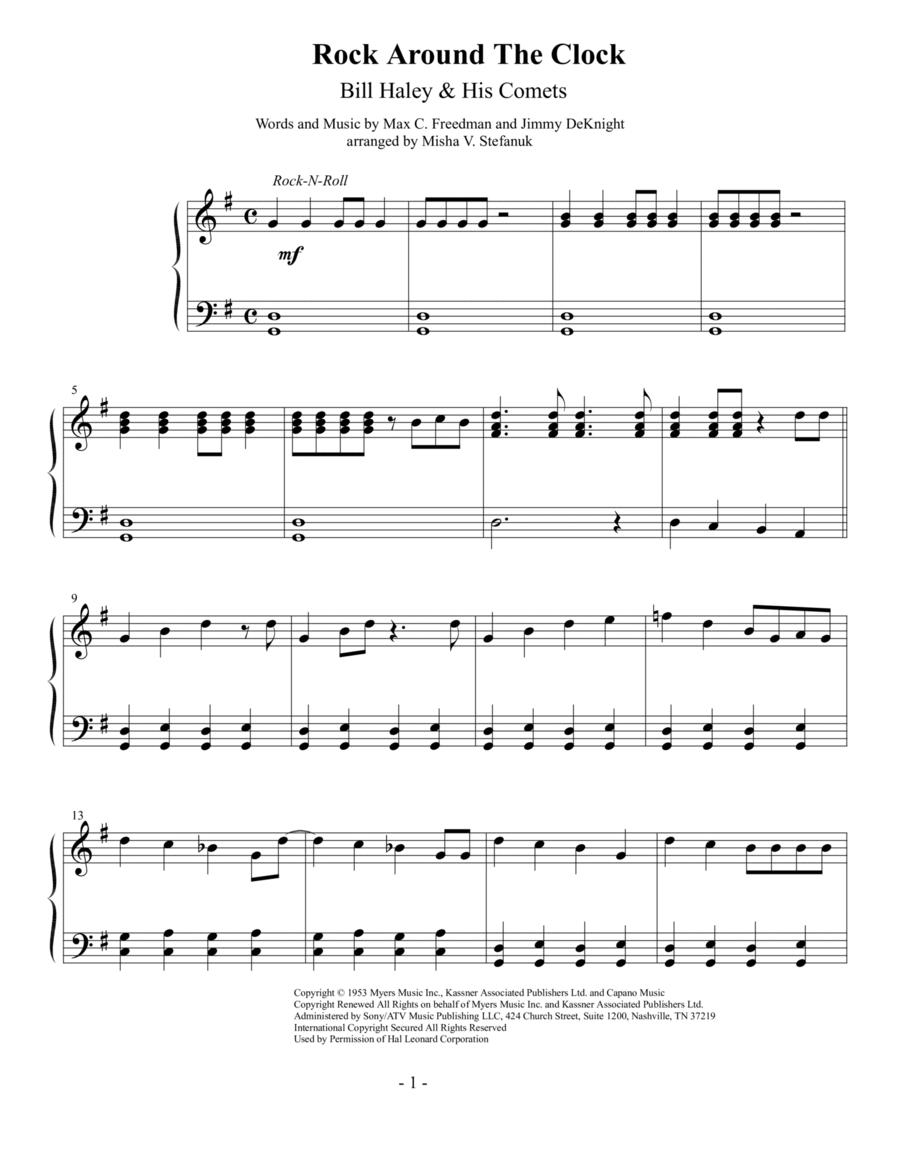 Rock Around The Clock, Easy Piano