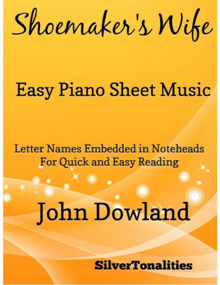 Shoemaker's Wife Easy Piano Sheet Music