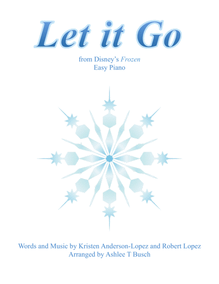 Let It Go (from Frozen) for Easy Piano