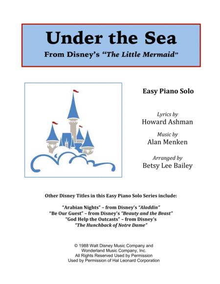 Under The Sea - Easy Piano Solo