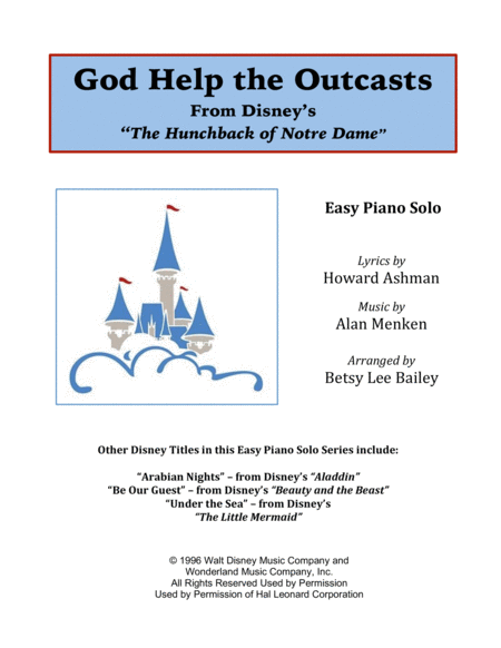God Help The Outcasts - Easy Piano Solo