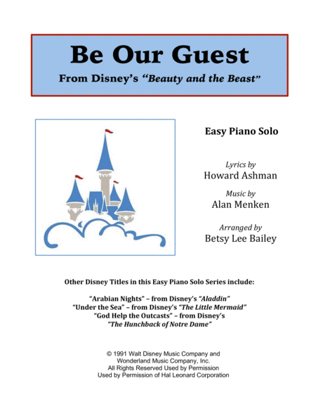 Be Our Guest - Easy Piano Solo