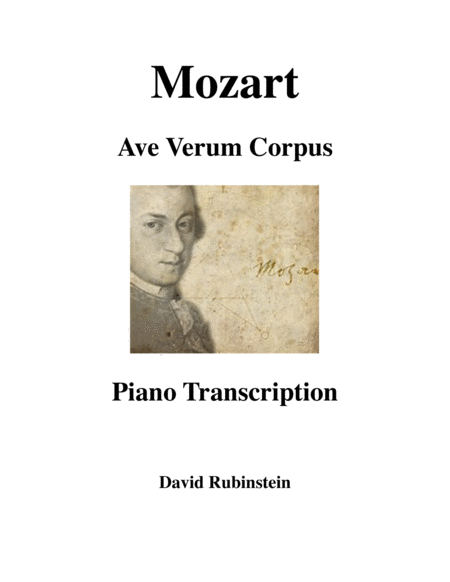 Ave Verum Corpus, K.618 - piano transcription