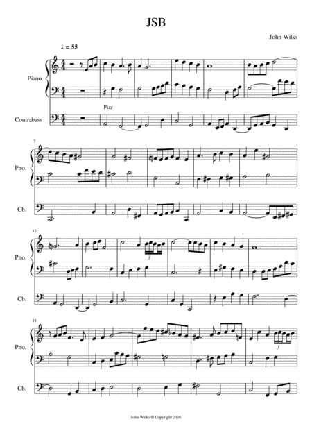 Little counterpoint for piano and double bass