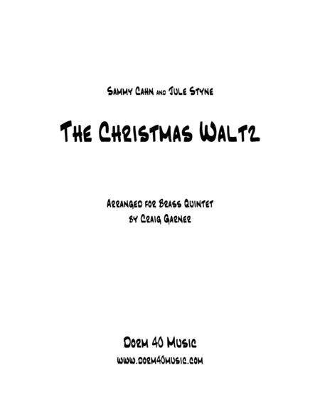 The Christmas Waltz (for Brass Quintet)