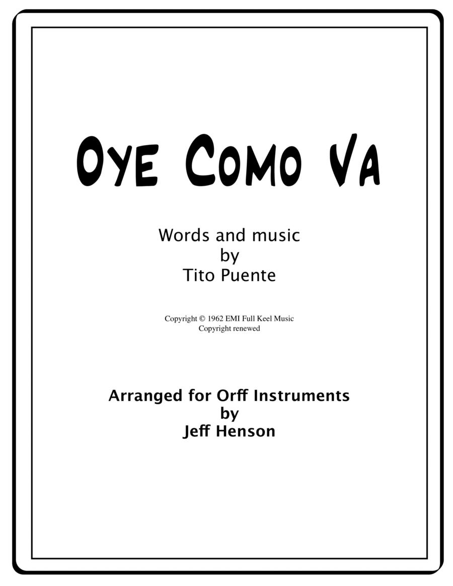 Oye Como Va for Orff Ensemble