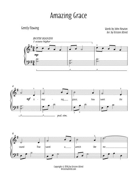 Amazing Grace - Easy Piano