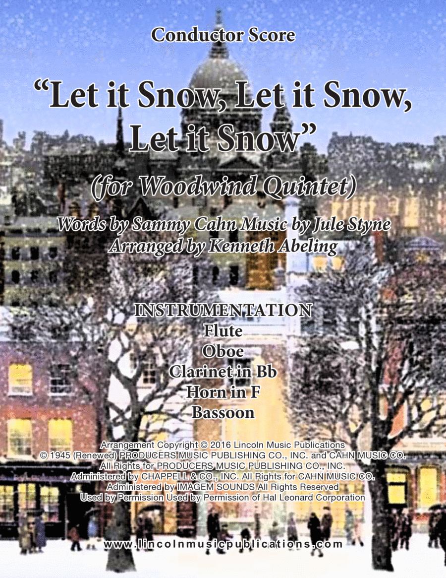 Let It Snow! Let It Snow! Let It Snow! (for Woodwind Quintet)