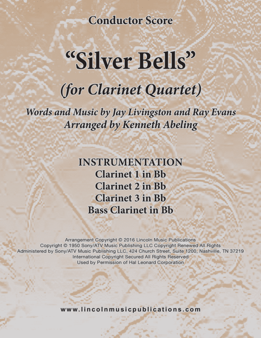 Silver Bells (for Clarinet Quartet)