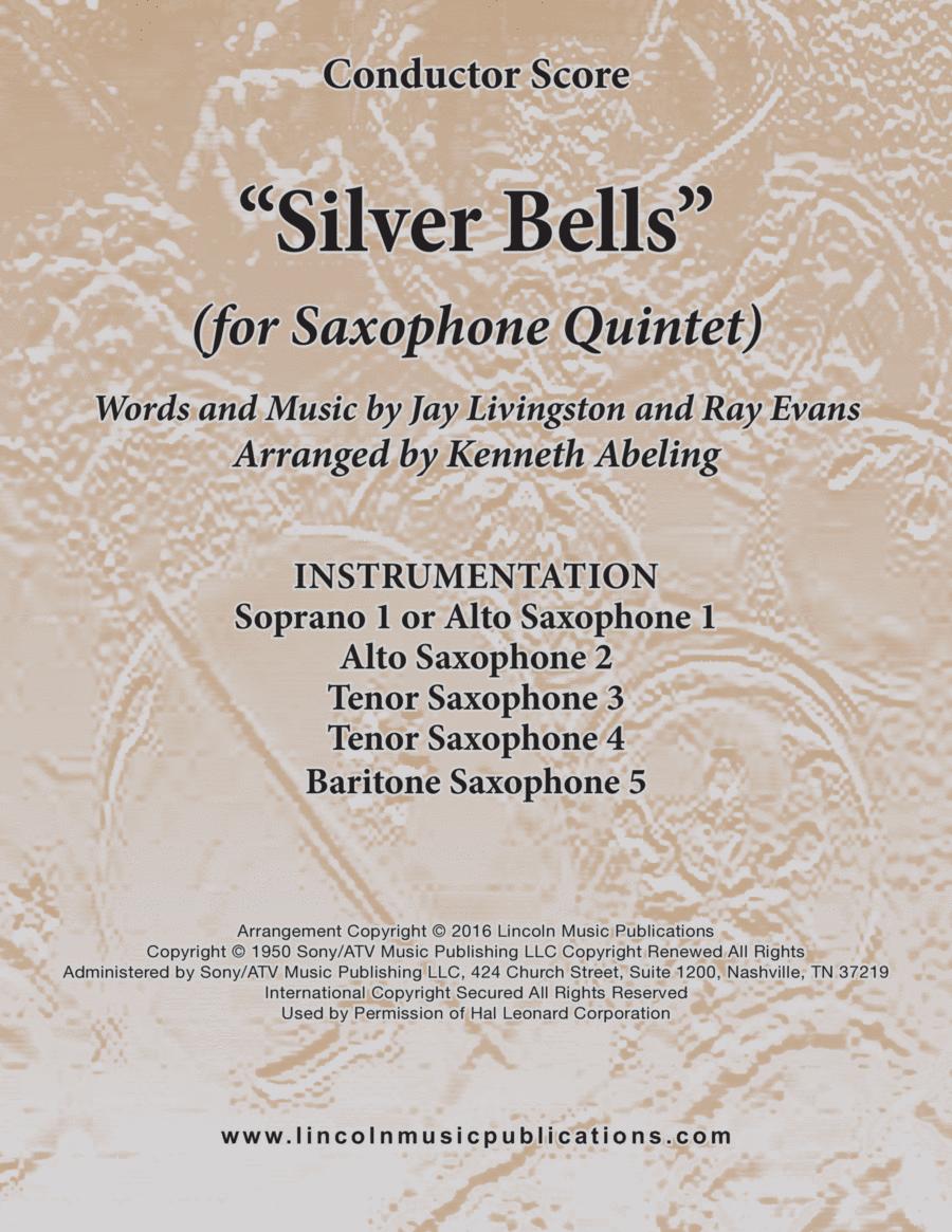 Silver Bells (for Saxophone Quintet SATTB or AATTB)