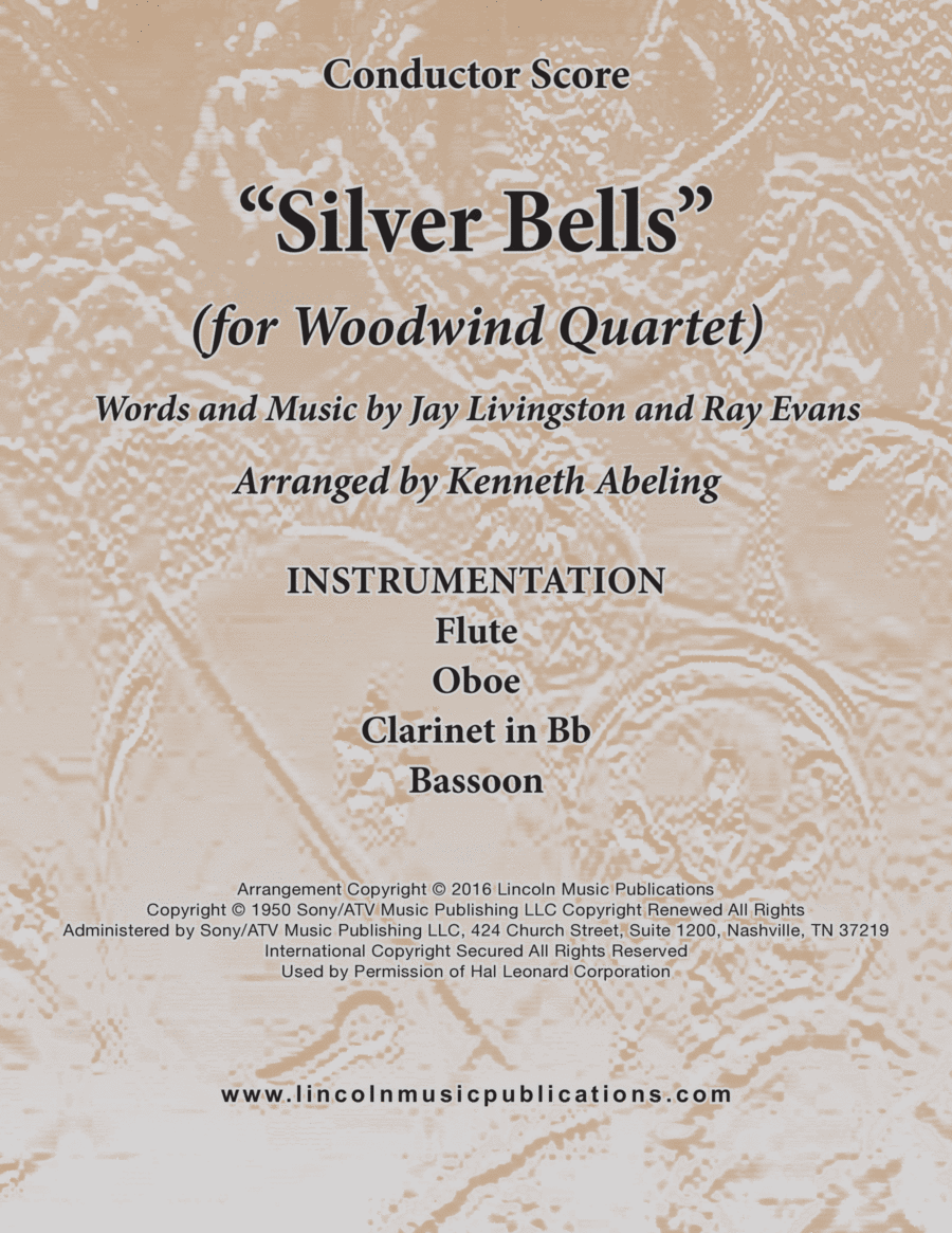 Silver Bells (for Woodwind Quartet)