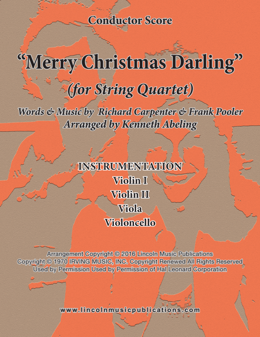 Merry Christmas, Darling (for String Quartet)