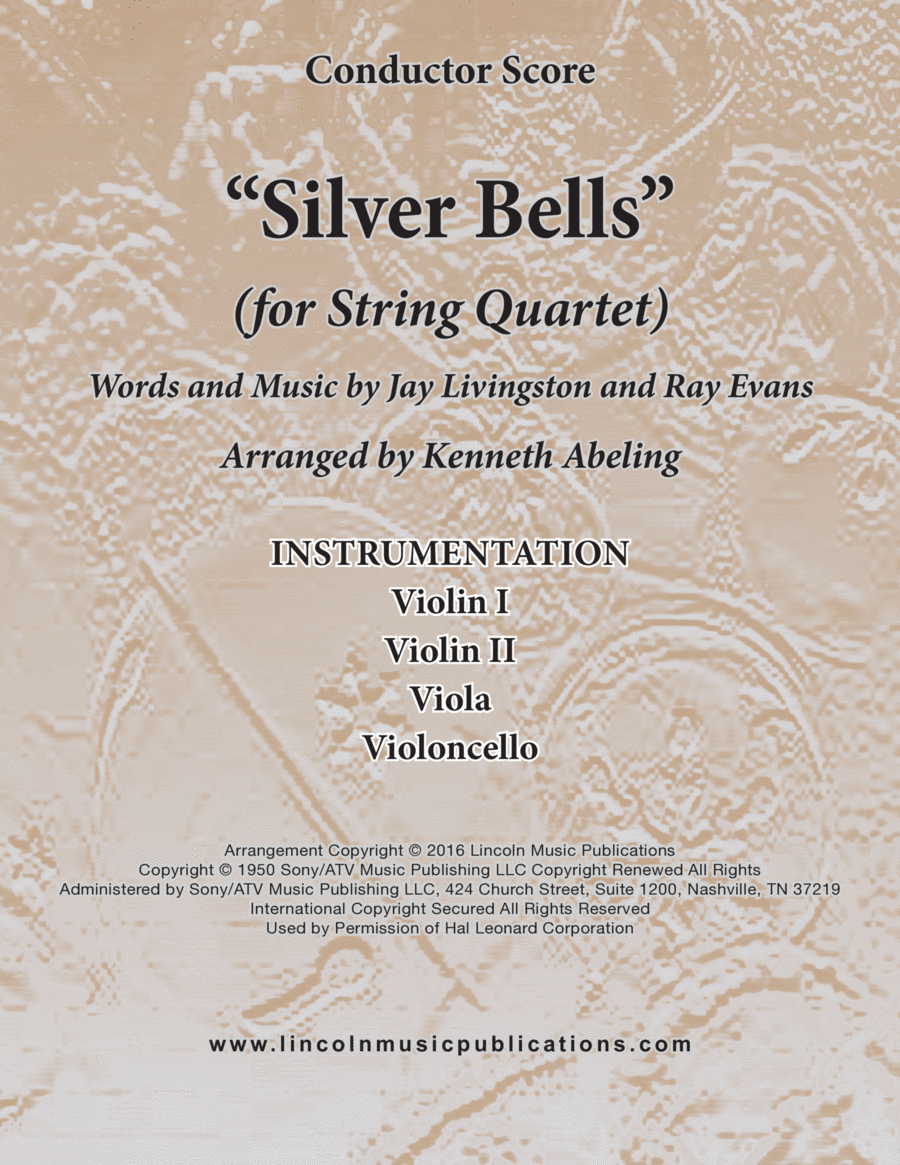 Silver Bells (for String Quartet)