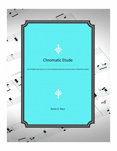 Chromatic Etude - easy piano solo