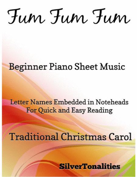Fum Fum Fum Beginner Piano Sheet Music