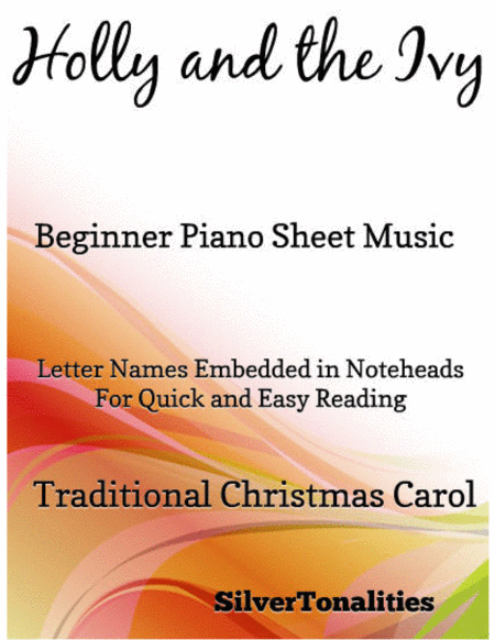 Holly and the Ivy Beginner Piano Sheet Music