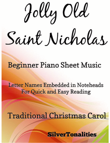 Jolly Old Saint Nicholas Beginner Piano Sheet Music