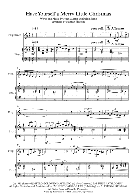 Have Yourself A Merry Little Christmas - Flugelhorn Solo