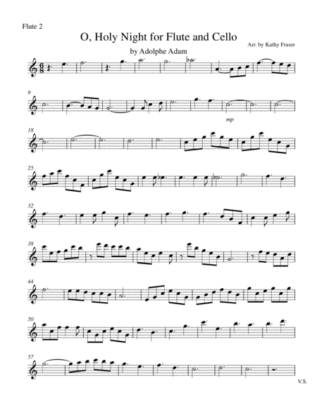 O Holy Night for Two Flutes and Cello