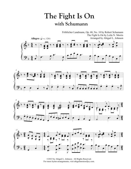 The Fight Is On with Schumann - Piano Solo