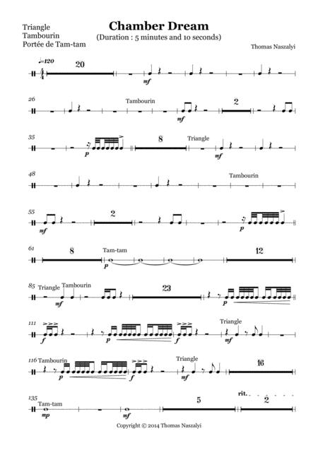 Chamber Dream/Multi-Percussion PART