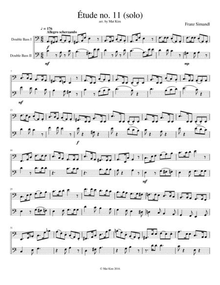 Franz Simandl Étude no. 11 for Two Double Basses
