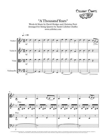 A Thousand Years (Twilight) - String Quartet - Christina Perri arr. Cellobat