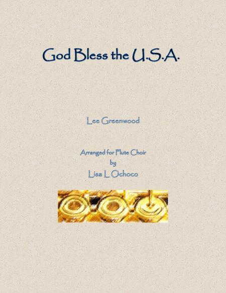 God Bless The U.S.A. for Flute Choir