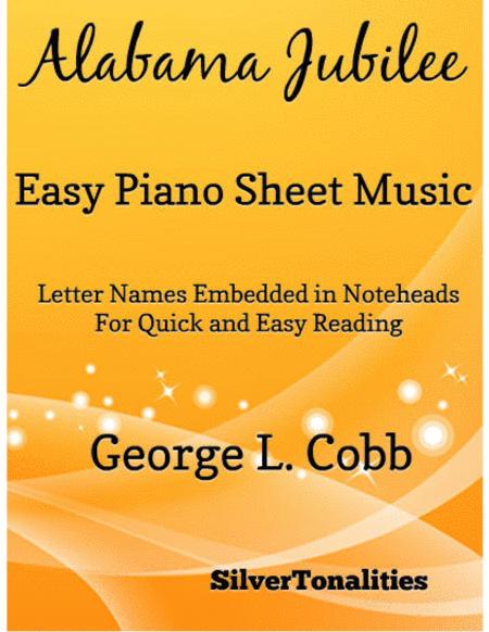 Albama Jubilee Easy Piano Sheet Music