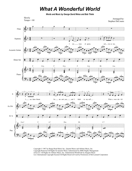 What A Wonderful World (Duet for Soprano and Alto Solo)